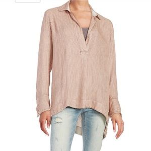 Free People on the road striped long sleeve tunic